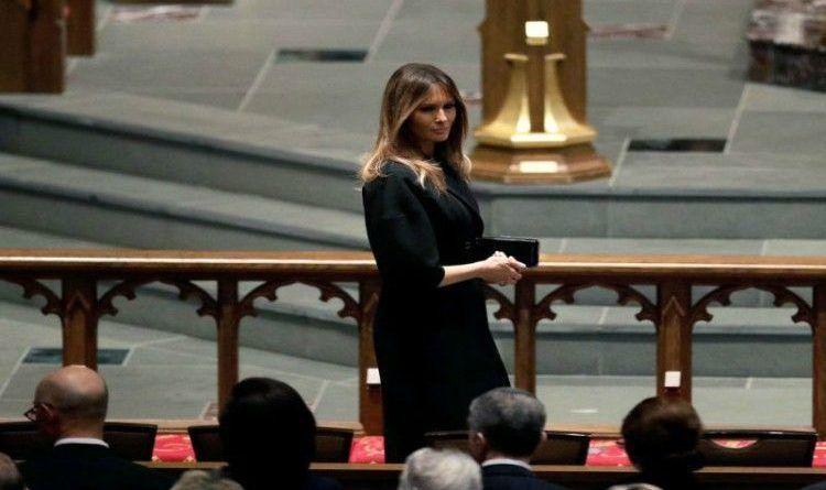 Melania Trump, Obamas and Clintons Made A Historic Picture at Barbara Bush's Funeral (PHOTO)