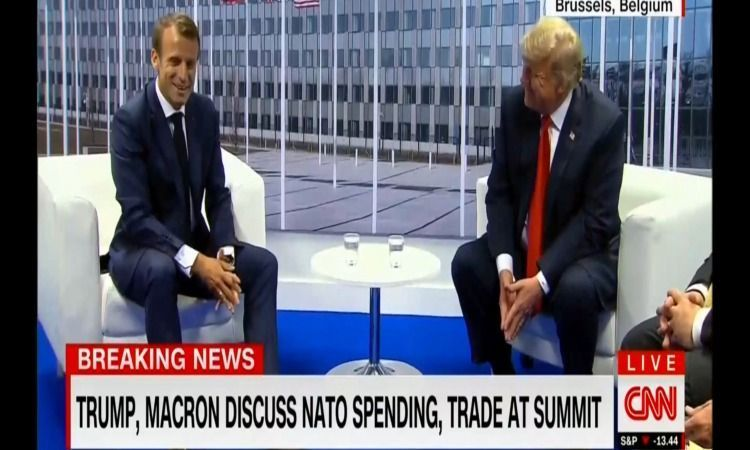 President Trump's Joke To Macron During NATO Summit Has Made Everyone Laughing! (VIDEO – Right Journalism
