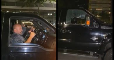 """Video: BLM-Antifa Force A Passenger To Give The Black Power Salute & Chant, """"Black Lives Matter"""" – Smashed Up His Truck Anyway"""