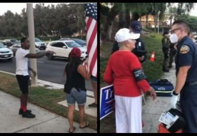 Video: Liberal Lunatic Beats Elderlies At A Trump Rally – Smacks 84-Year-Old Female Trump Supporter Across The Face