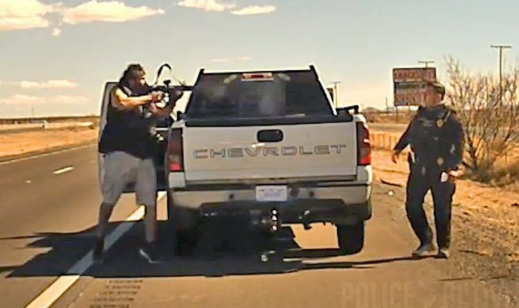 Just Released Dashcam Video Shows New Mexico Cop Killed By AR-15 Toting Drug Dealer