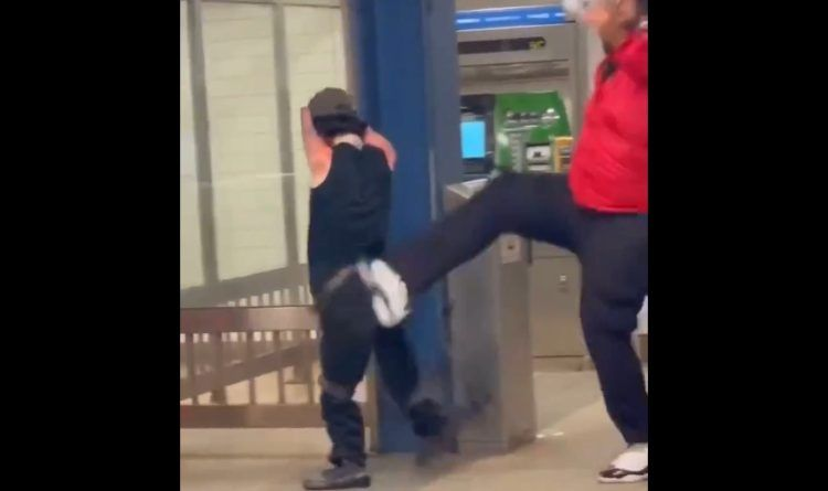 Small Man With No Forearms And One Leg Gets Kicked In The Back So Hard It Sends Him Flying – He Allegedly Dropped 'N' Word (Video)