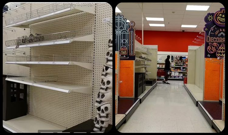 Photos & Video: Empty Shelves Joe Effect – Shelves Are Stripped Bare As Supply chain Crisis Hits Halloween